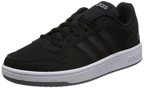 adidas Herren Hoops 2.0 Fitnessschuhe, Schwarz Negbas/Gritre 000, 42 EU