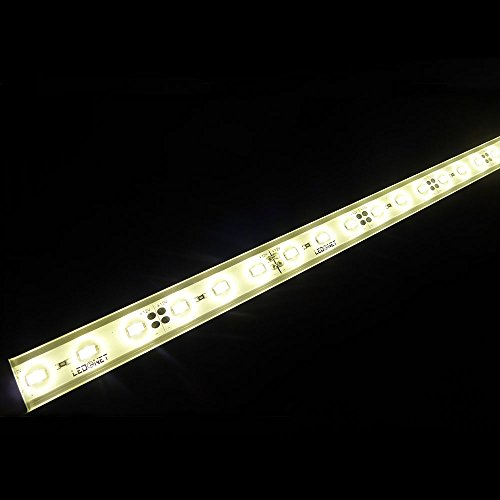 LTRGBW SMD 5730 2800K-3200K 12V DC 12W 30LEDs warme weiße super helle Aquarium LED-Streifen-Licht - Wasserdichte -Flut-Licht-Stab-Aluminium Kabinett LED-Linear-Beleuchtung - LED Anlage wachsen Lichter im Freien Lampen (50cm)