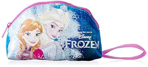 Bustina frozen, portapenne per scuola, poliestere, azzurro multicolore