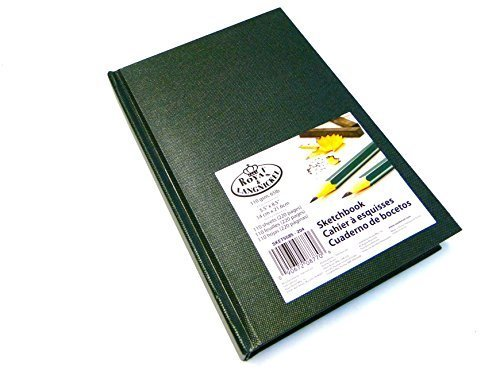 royal-langnickel-dark-green-a5-sketchbook-cartridge-drawing-paper-artist-sketch-book-pad-casebound-1