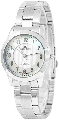 Armbanduhr Damen perlenfarbiges Ziffernblatt JORDAN KERR analog nickelfrei, ZJ0101Q38/1
