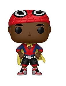 Funko-Pop.Color Marvel: Spiderman Animated Color Miles con Cape (Bobblehead),, 33976