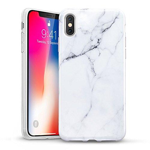 ESR Funda para iPhone XS/X Mármol, Funda Mármol Suave TPU...
