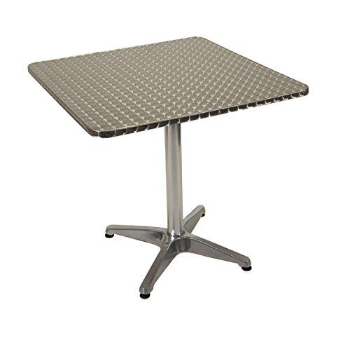 wetterfest Alu-Tisch Bistrotisch Gartentisch M28 rechteckig