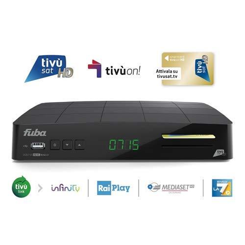 Decoder FUBA ODE715HD Tivusat TivuOn satellitare con tessera HD inclusa