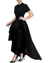 LILICAT Frauen Cocktailkleid Retro Abendkleid Vintage Partykleid Clubwear Damen  Elegant Sommer Kurzarm Kleid Casual Hohe Taille 96f04d2dbf