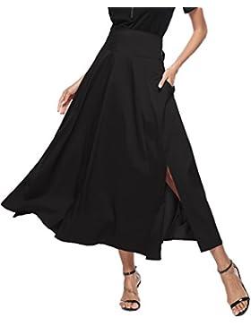 Aibrou Push Up Faldas Largas Mujer Elegantes y Sexy Encaje Swing Casual Vintage