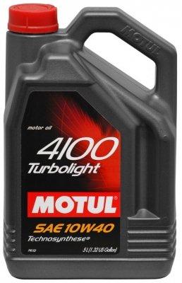 Motul 100357 4100 Motoröl Turbolight 10W-40, 5 L