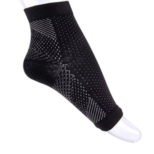 (2 PAIRS) MSQ fascitis Plantar pie arch support calcetín/funda, con 7 zonas de compresión graduada, alivia el dolor, el sida en apoyo, mejora la circulación que fomenta la curación
