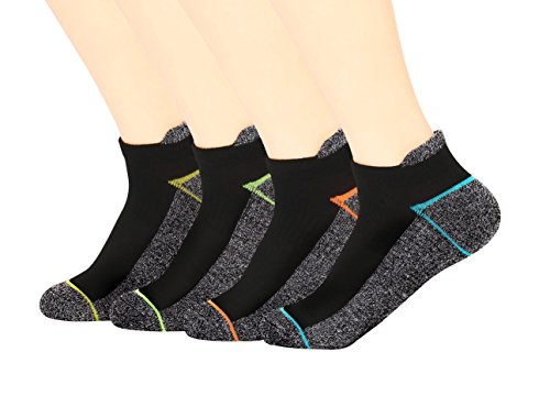 Copper Antibacterial Athletic No Show/Low Cut Socks for Men and Women