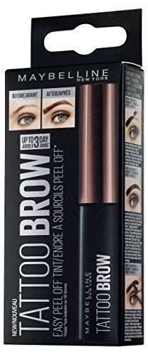 Maybelline New York Brow Tattoo Gel Tinte para Cejas Morenas, Marrón Oscuro ( Dark Brown) - 4.6 gr