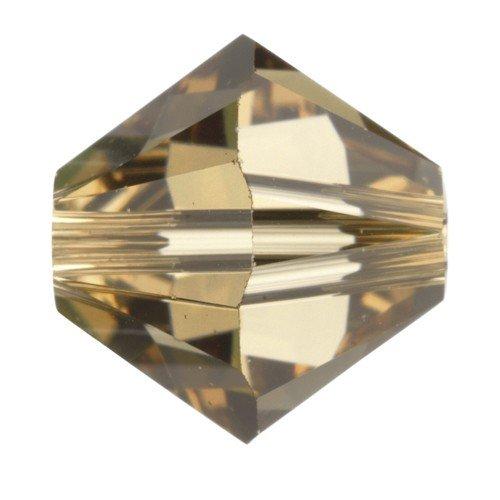 4mm Swarovski Crystal Xilion Lt. Col Topaz Beads Qty 100 by Swarovski Elements -