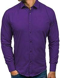 Yvelands Liquidación Camisa Formal Casual para Hombres b00ba5f914804