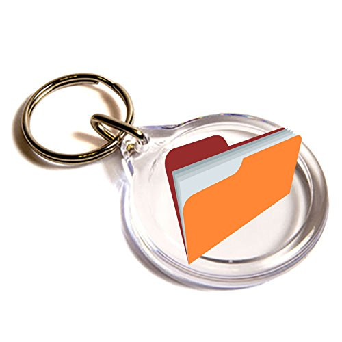 Cartella File Emoji anello chiave / File Folder Emoji Key Ring