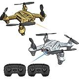 Lefant Mini RC Battle Drone Racing Nano Quadcopter Fighter Drones Helicopter con emisión de Lucha por Infrarrojos, Control de altitud, 3D Flip, Control Remoto de 2,4 GHz Quadcopter-Pack de 2