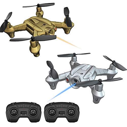 Lefant Nano Battle Drones per Bambini Principianti RC Mini Drone con Emissione di combattimenti a infrarossi con Controller Altitude Hold, 2.4GHz Remote Control Quadcopter-Pack di 2