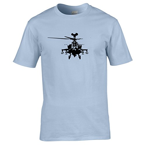 Tim And Ted Apache Boeing AH64 Helicopter Printed Design Logo USA Pilot Military Chopper Aircraft Transport Mens T-Shirt Cool Funny Gift Present