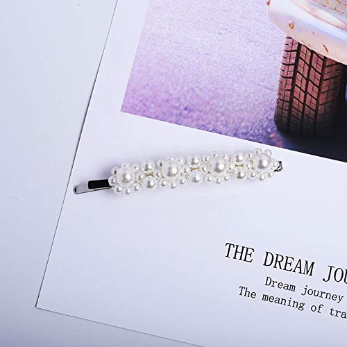 LKJH Haarspange Perle Haarspange Strass Snap Haarnadeln Frauen Haar Styling Zubehör, PerleHaarnadel -