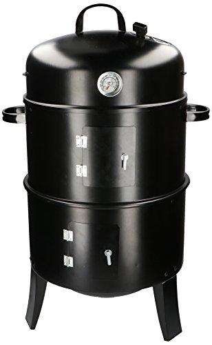 BBQ-Collection Barbacoa Asar y Ahumadores 3 en 1-Negro