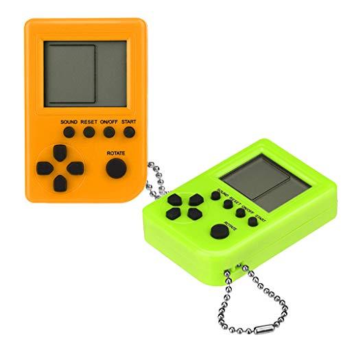 Bescita Mini Handheld Spielkonsole, Retro Spielkonsole Game Console Klassische Spielkonsole Tetris Spielkonsole für Kinder Geschenk Bestes 2PC (C) (Gameboy Handheld)