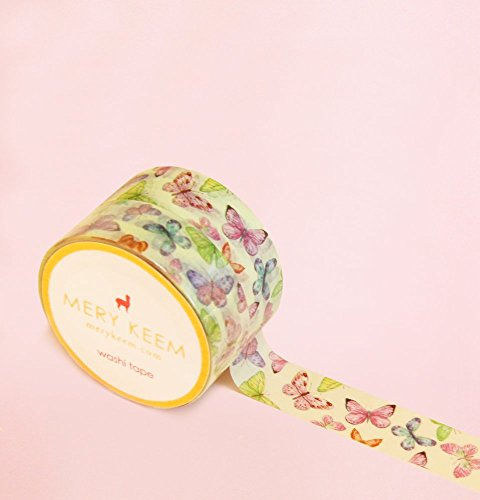 Vintage Butterfly Washi Tape for Planning • Planer und Organizer • Scrapbooking • Deko • Office • Party Supplies • Gift Wrapping • Colorful Decorative • Masking Tapes • DIY