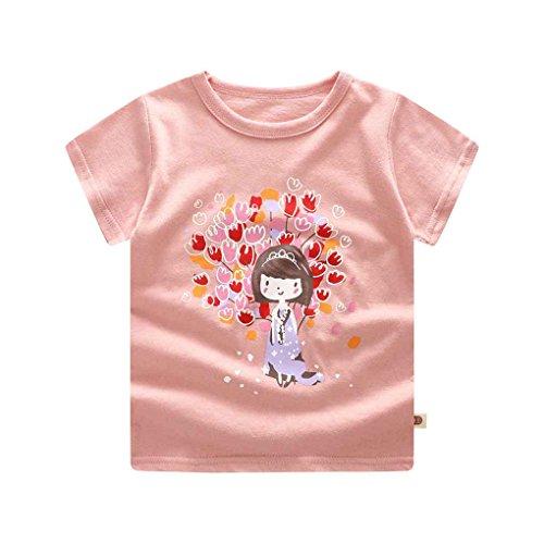 Baby Mädchen Cartoon Top Kurze Hosen Baumwolle Kurzarm-T-Shirt Outfits Set Engel 73cm ()