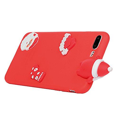 iPhone 7 Plus / iPhone 8 Plus Coque Mavis's Diary Étui Housse TPU Silicone Gel Coque de Protection Phone Case Cover Antichoc 3D Protection écran 5.5'' pour iPhone 7 Plus / iPhone 8 Plus Ultra Fine Lég Noël 3