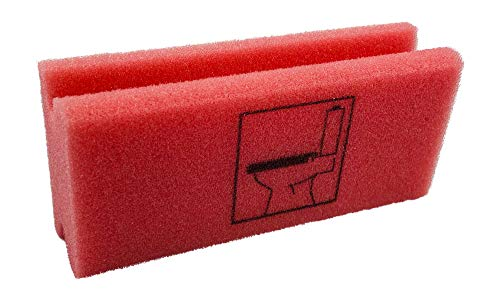 KaiserRein biologisch Piktogramm Schwamm WC rot Putzschwamm mit Beschriftung Pikto Schwamm