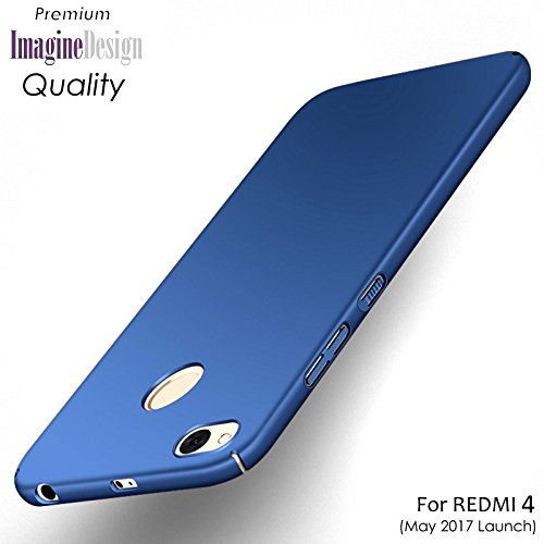 WOW Imagine All Sides Protection '360 Degree' Sleek Rubberised Matte Hard Case Back Cover For XIAOMI MI REDMI 4 ( MAY 2017 LAUNCH ) - Blue