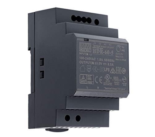 5 VDC | 6,5 A | 32,5Watt | Mean Well HDR-60-5 Hutschienen-Netzteil DIN-Rail
