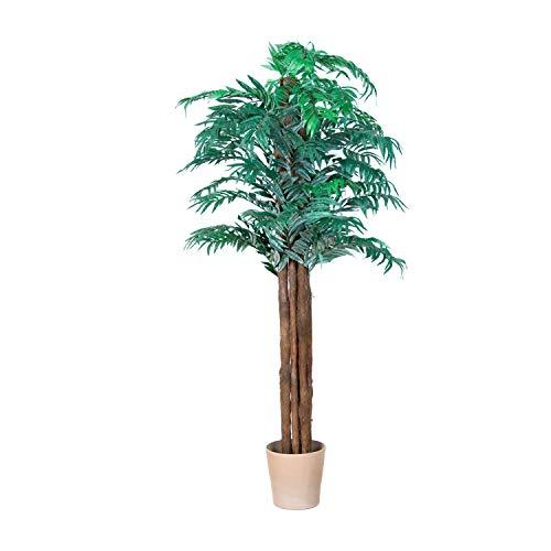 Maxstore PLANTASIA® Areca-Palme, Echtholzstamm, Kunstbaum, Kunstpflanze, Kunstpalme – 180 cm, Schadstoffgeprüft