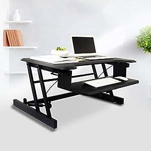 soges sitz steh schreibtischaufsatz arbeitstisch 81cm. Black Bedroom Furniture Sets. Home Design Ideas