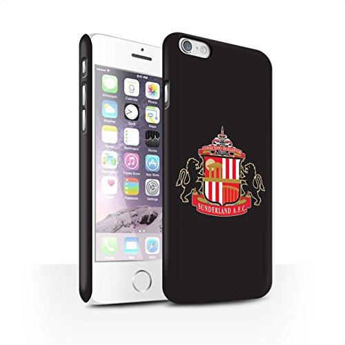 Offiziell Sunderland AFC Hülle / Matte Snap-On Case für Apple iPhone 6S / Pack 6pcs Muster / SAFC Fußball Crest Kollektion Schwarz