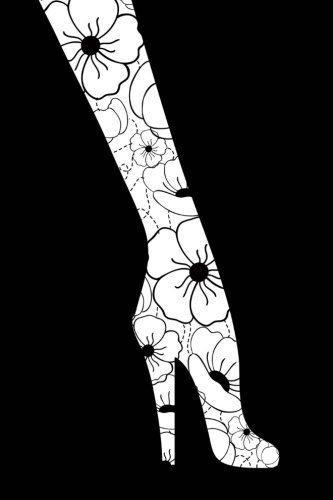 Leggings: Floral Legs and High Heels - 150 Pages Lined Journal / Notebook Floral Print-heels