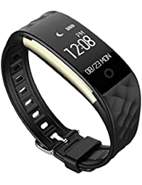 Sannysis Bluetooth 4.0 LED impermeable Smartwatch Deportes Relojes de pulsera color negro