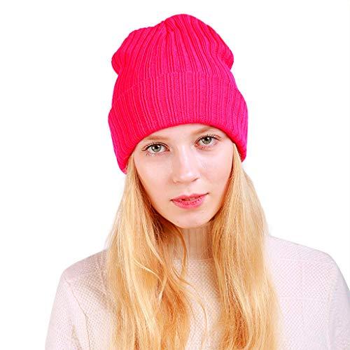 Kobay cappello caldo delle donne del cranio di beanie dello sci del knit di lana lavorata all'uncinetto del tessuto largamente caldo delle donne