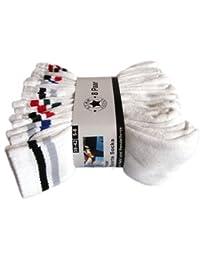 16 Paar Marken Sportsocken - in 7 Farben Verfügbar, 39/42, Weiß