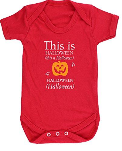 hippowarehouse Dies ist Halloween Baby Weste Body (kurzärmlig) Jungen Mädchen, Rot, - Boo-halloween Spiel