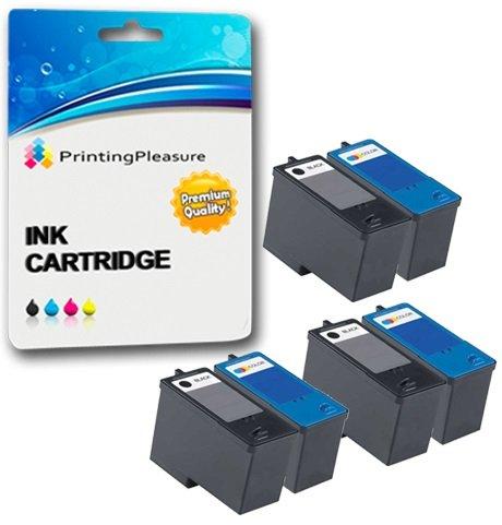 6 Tintenpatronen kompatibel zu Dell Serie 5 M4640 M4646 für Dell 922 924 942 944 946 962 964 - Schwarz/Color, hohe Kapazität -