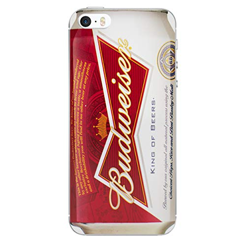 iPhone 5/5s Bier Silikonhülle / Gel Hülle für Apple iPhone 5s 5 SE / Schirm-Schutz und Tuch / iCHOOSE / Budweiser