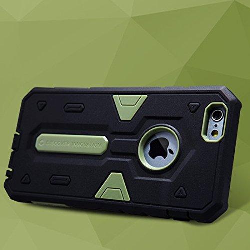 IPhone 6 Plus & 6s Plus Fall NILLKIN Tough Defener II Gehäuse Shockproof TPU + PC Kombi Hülle für iPhone 6 Plus & 6s Plus by diebelleu ( Color : Green ) Green