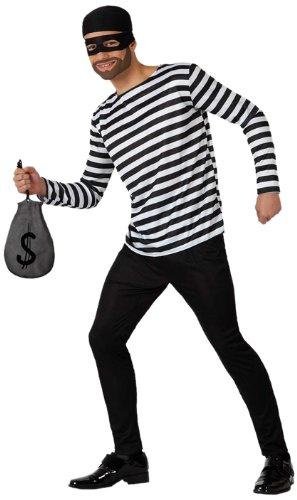 Imagen de atosa  disfraz de ladrón para hombre, talla m/l 15653