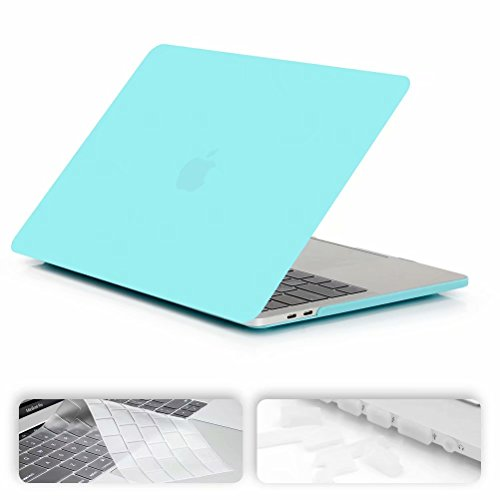 MacBook Air 11 inch Case,Maetek Smooth Soft Rubberized Apple Hard Plastic Case, Laptop Folio Protective Cover with Keyboard Cover and Dust Plug for MacBook Air 11.6 Model A1370&A1465, Blue