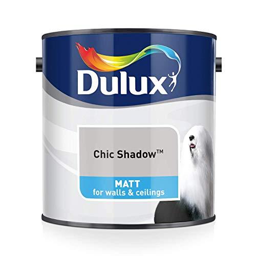 Dulux Matt 2,5 L - Pinturas de pared para interior (Pintura, Preparado, Techo, Pared, Cool neutral, Mate, 2,5 L)