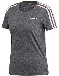 adidas W E 3S Slim tee Camiseta, Mujer, brgros/rosaut, L