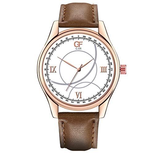 Armbanduhren Herren Quarzuhr,Evansamp 2020 Neue Luxusuhren Kreative Dial Display Quarzuhr Edelstahl Casual Armbanduhr(D)