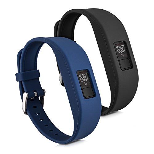 kwmobile Garmin Vivofit 3 Armband S - 2X Silikon Fitnesstracker Sportarmband für Garmin Vivofit 3