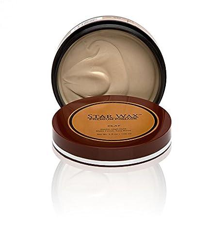 Star Wax   Premium Pomade, Clay, by Star Pro Line - 5 fl oz / 150 mL