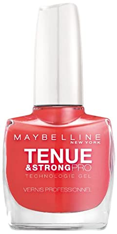 Gemey-Maybelline - Tenue & Strong pro - Vernis à ongles Rouge - 490 rose salsa
