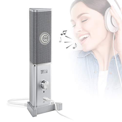 TONOR USB PC Microfono TC 1020 Microfono Condensatore Cardioide per Computer Mac e Windows con Porta per Cuffie da 35 per Registrazione Voice Over